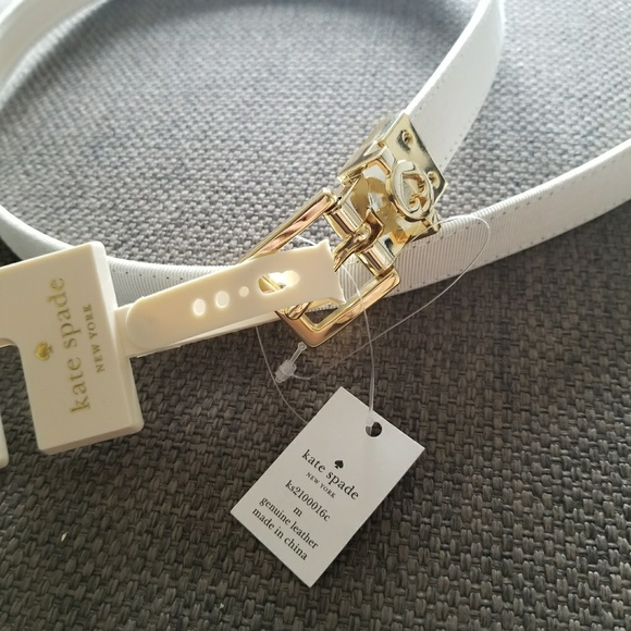 4c02b8181e66 Authentic Kate Spade Off White Leather Belt Size M